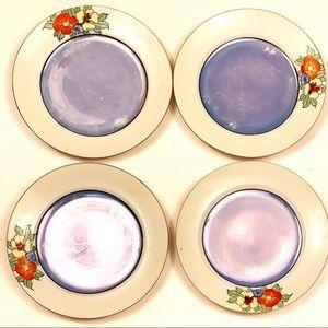 Vintage Dining - 8 vintage Japanese hand-painted porcelain plates